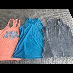 Lot of 3 Under Armour tanks